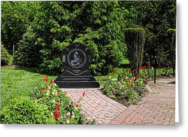 Hamilton Greeting Cards - Hamilton Township New Jersey Heroes Memorial Greeting Card by Olivier Le Queinec