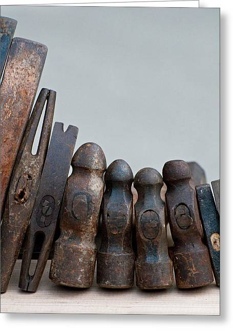 Rock Hammer Greeting Cards - Hammer Heads Greeting Card by Wilma  Birdwell