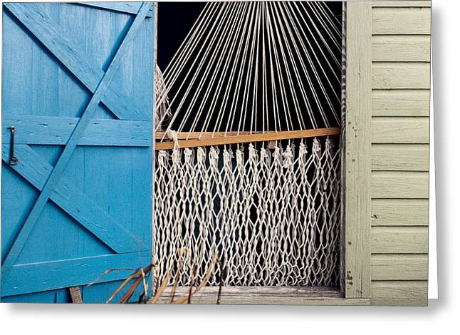 Brent L Ander Greeting Cards - Hammock in Key West Window Greeting Card by Brent L Ander