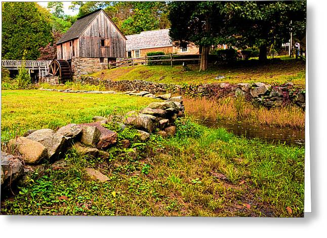 Grist Mill Greeting Cards - Hammond Gristmill Rhode Island - Colored Version Greeting Card by Lourry Legarde