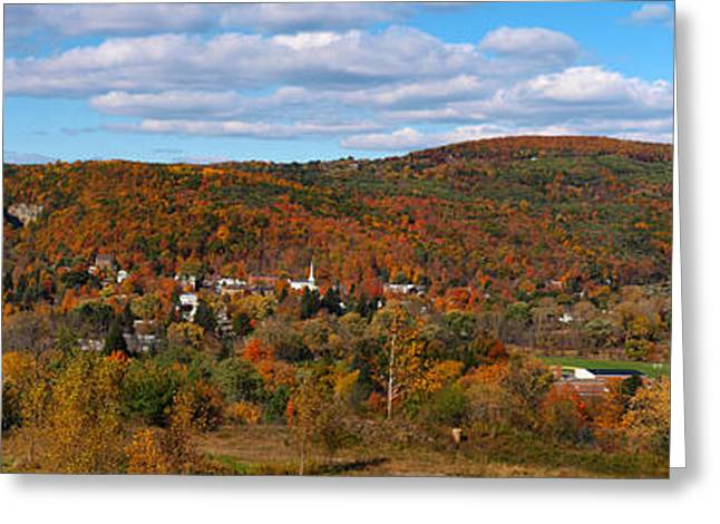 Keuka Greeting Cards - Hammondsport Panorama Greeting Card by Joshua House