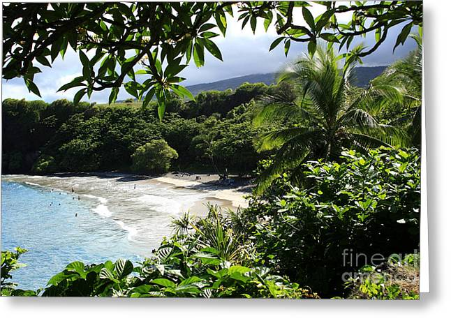 Ourjrny Greeting Cards - Hamoa Beach Maui Hawaii Greeting Card by Sharon Mau