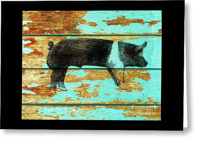 Hampshire Boar 1 Greeting Card by Larry Campbell