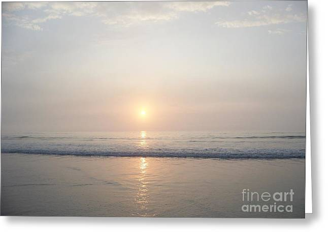 Eunice Miller Greeting Cards - Hampton Beach Sunrise Is A Pale Beauty Today Greeting Card by Eunice Miller