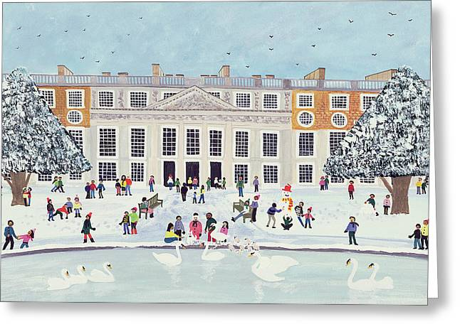 Crows Greeting Cards Greeting Cards - Hampton Court Palace   Fountain Gardens Greeting Card by Judy Joel