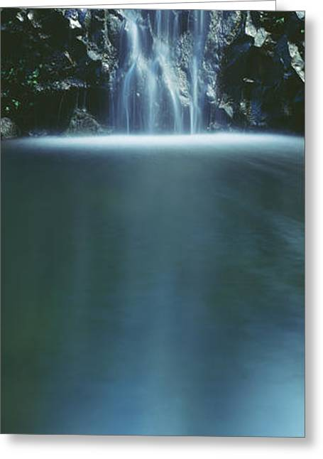 Beautiful Scenery Greeting Cards - Hana, Cascading waterfall Greeting Card by Carl Shaneff - Printscapes