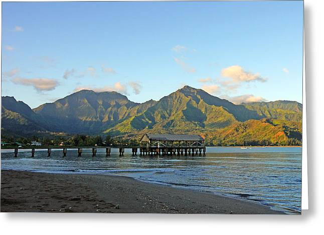 Kevin Smith Greeting Cards - Hanalei Bay Morning Kauai Greeting Card by Kevin Smith