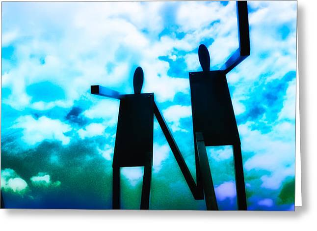 Hand in Hand Greeting Card by Bill Cannon