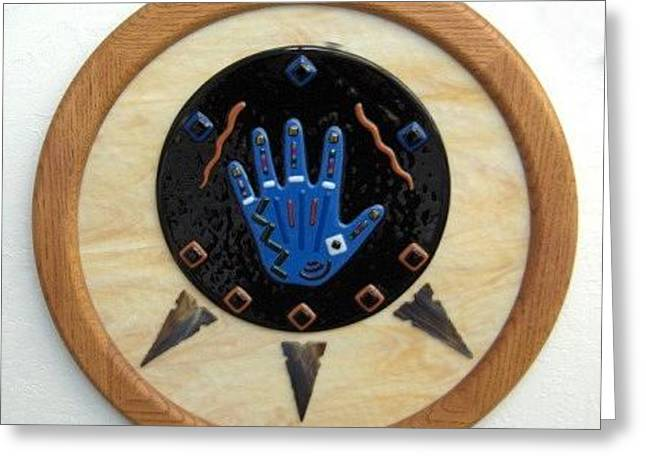 Hand Of Friendship Greeting Card by Andrew Tillinghast