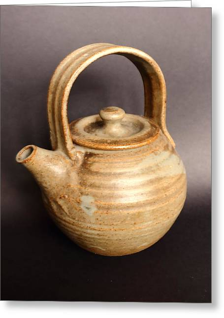 Hand Thrown Teapot Greeting Card by Jeff Townsend