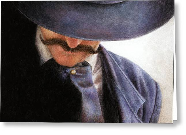 Cowboy Hats Greeting Cards - Handlebar Greeting Card by Pat Erickson