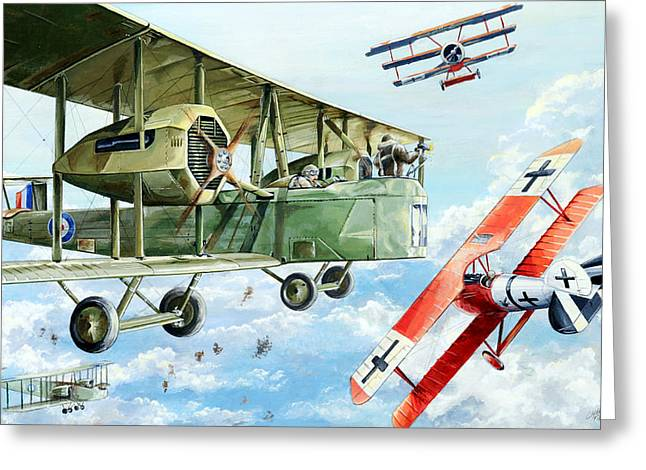 Flight Drawings Greeting Cards - Handley Page 400 Greeting Card by Charles Taylor