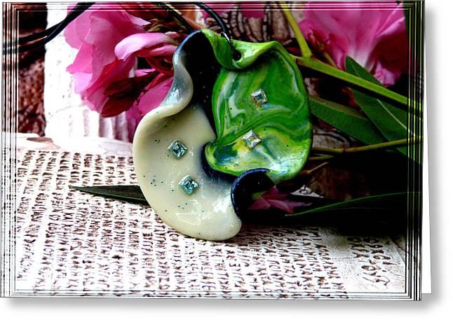 Handmade Art in Nature Greeting Card by Chara Giakoumaki
