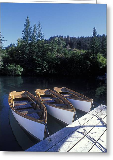 Quiet Places Greeting Cards - Handmade Row Boats At The Quiet Place Greeting Card by Rich Reid