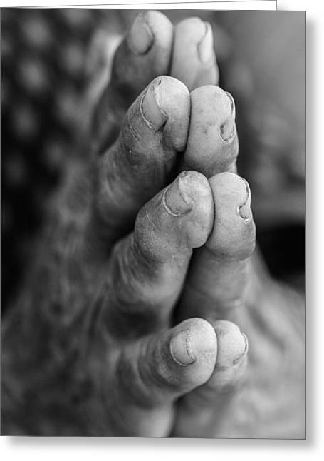 Praying Hands Greeting Cards - Hands Greeting Card by Chris Love