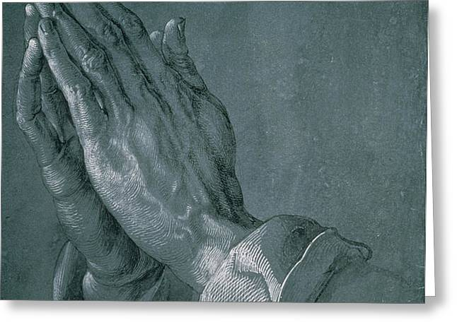 Hands of an Apostle Greeting Card by Albrecht Durer