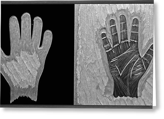 Elegant Glass Art Greeting Cards - Hands of Fate Greeting Card by Robert Zeman