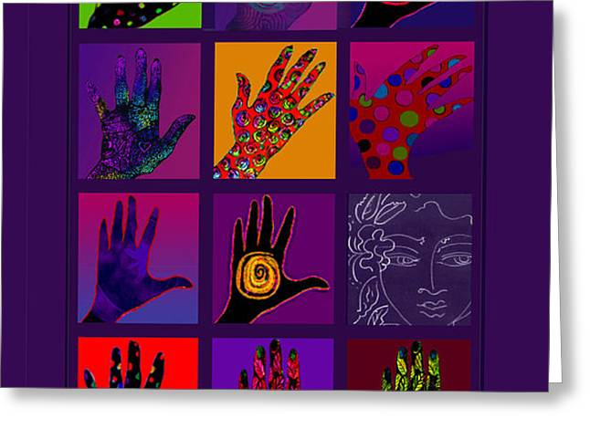 Hands Poster Greeting Card by Lydia L Kramer