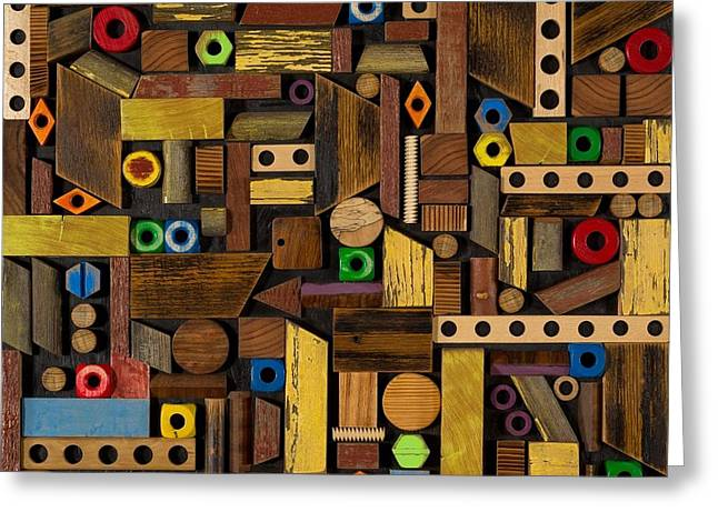 Nuts Mixed Media Greeting Cards - Handyman Greeting Card by Jack Thompson