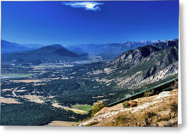 Hang Gliders Point Of View Greeting Card by Monte Arnold