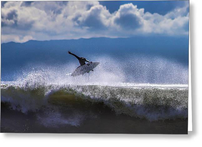 Ventura California Greeting Cards - Hang Time 10 Greeting Card by Andres Eugenio - Xoterik Images