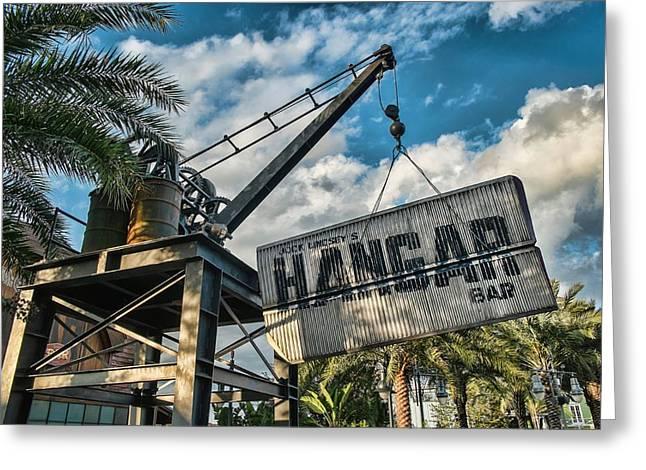 Hangar Bar Greeting Card by Louis Ferreira