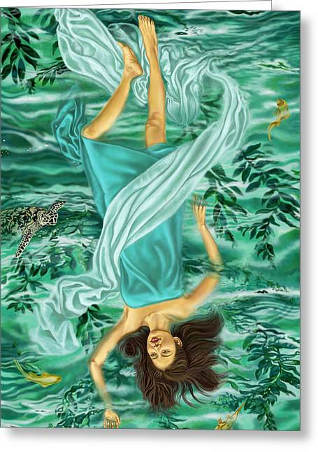 Goddess Print Greeting Cards - Hanged One Greeting Card by Pamela Wells