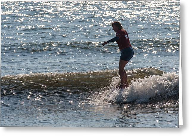 Surfer Art Greeting Cards - Hangin Ten Greeting Card by AM Photography