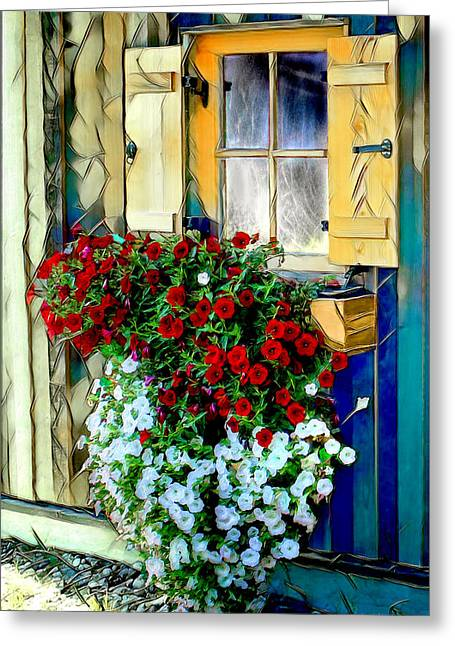 Hanging Planter Greeting Cards - Hanging Gardens Greeting Card by Pennie  McCracken