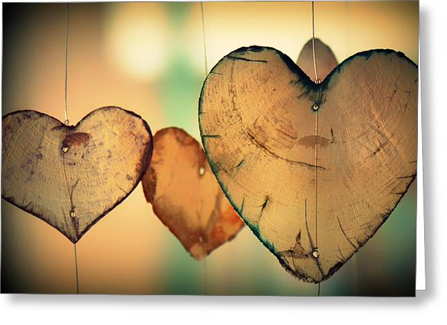 Thin Greeting Cards - Hanging Hearts Greeting Card by Ben Kerckx