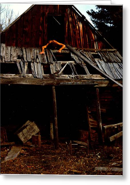 Mining Photos Greeting Cards - Hanging Nude Greeting Card by Wayne King