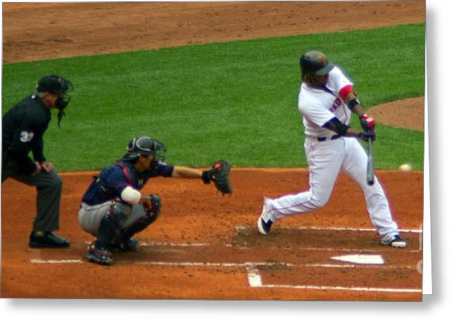 Hanley Rbi Single Greeting Card by Ray Konopaske