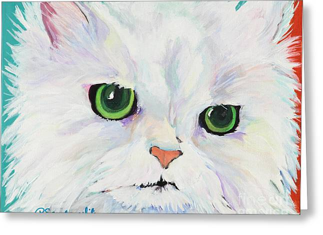 Pussy Greeting Cards - Hannah Greeting Card by Pat Saunders-White