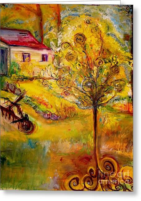 Helena Bebirian Greeting Cards - Hannahs Magical Wish Granting Tree Greeting Card by Helena Bebirian