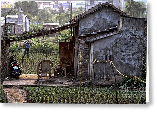 Chuck Kuhn Greeting Cards - Hanoi Living Greeting Card by Chuck Kuhn