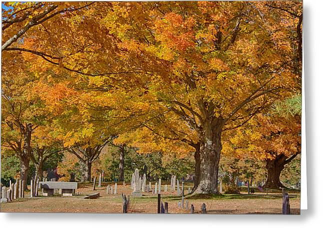 New England Greeting Cards - Hanover Cemetery fall folaige Greeting Card by Jeff Folger