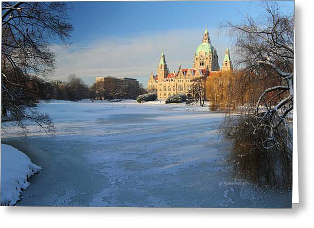 Wintry Photographs Greeting Cards - Hanover In Winter Greeting Card by Marc Huebner