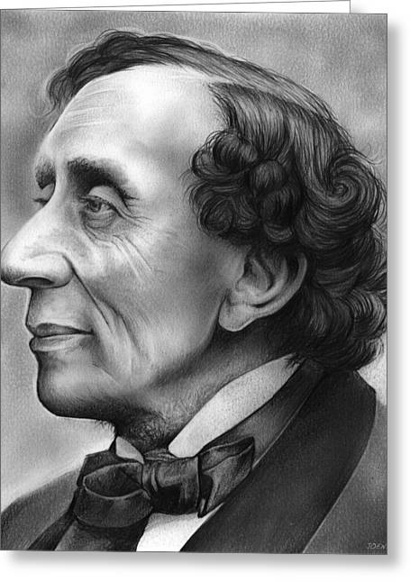 Hans Christian Andersen Greeting Card by Greg Joens