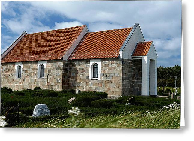 Hansted Kirke Greeting Card by Eric Sloan