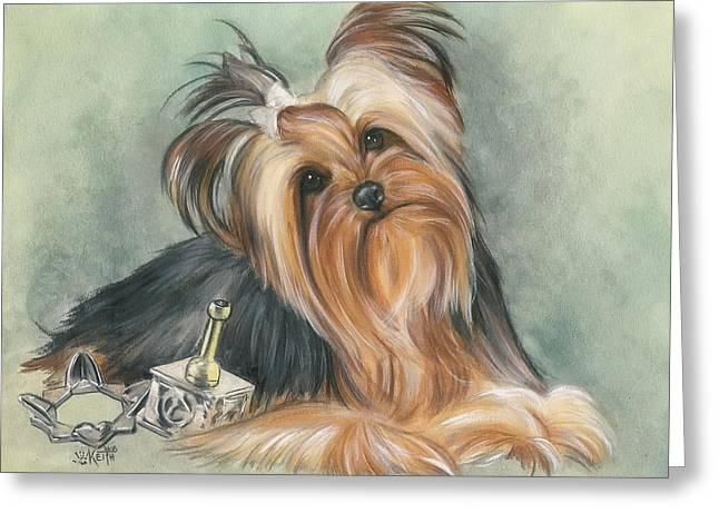 Toy Dog Greeting Cards - Hanukkah Honey  Greeting Card by Barbara Keith