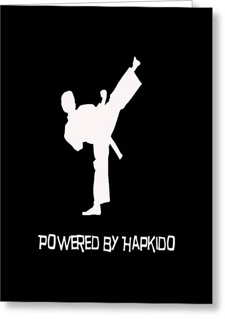 Workout Clothes Greeting Cards - Hapkido Greeting Card by Pat Cook