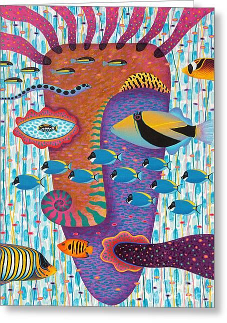 Marine Mollusc Paintings Greeting Cards - Happiness 2 Greeting Card by Opas Chotiphantawanon