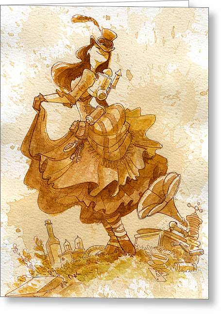 Dance Greeting Cards - Happiness Greeting Card by Brian Kesinger