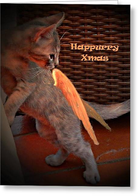 Berry Greeting Cards - Happurry Xmas Greeting Card by Dorothy Berry-Lound