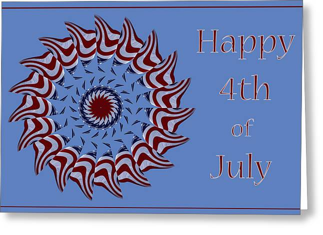 Usa Photographs Greeting Cards - Happy 4th of July Greeting Card by Nikolyn McDonald