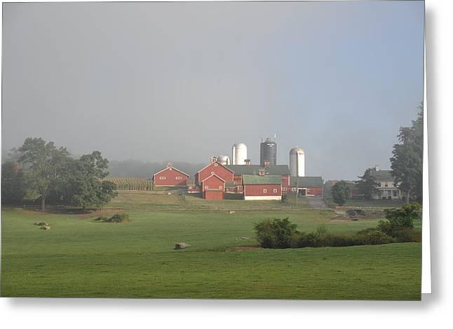 Happy Acres Farm Greeting Cards - Happy Acres farm #1 Greeting Card by Laszlo Gyorsok