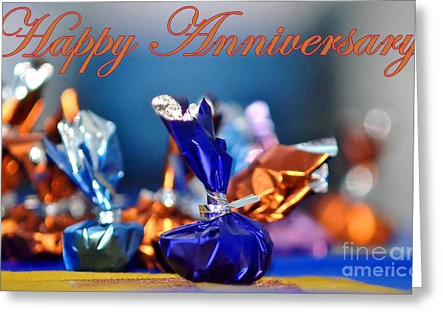 Wishes Greeting Cards - Happy Anniversary Greeting Card by Veena Nair