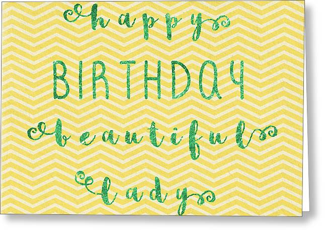 Happy Birthday Beeautiful Lady Greeting Card by Sabine Jacobs