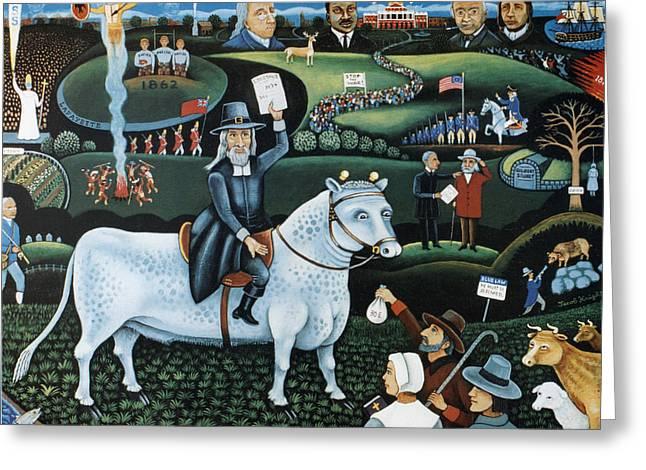 Happy Birthday Boston Common----250thanniversary Of The Boston Common Greeting Card by Jacob Knight