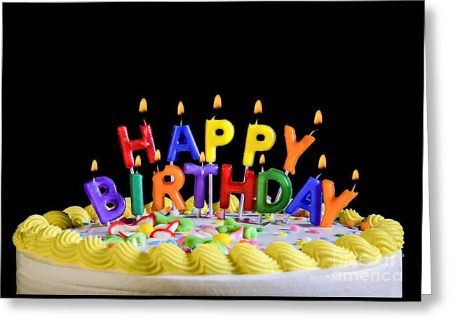 Birthday Card Greeting Cards - Happy Birthday Candles Greeting Card by Diane Diederich